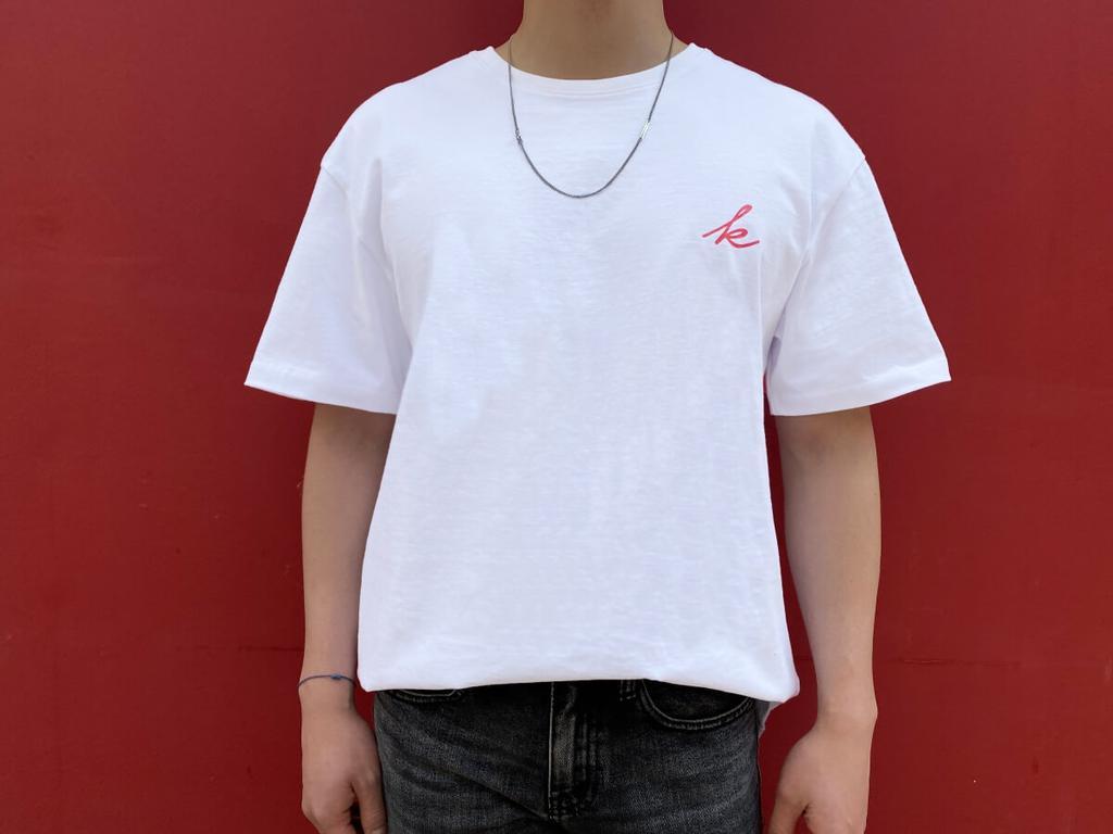 K 로고 세미 오버핏 티셔츠